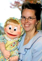 Wendy Stuart (USA) with baby puppet
