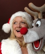 Shirley Ray with deer puppet