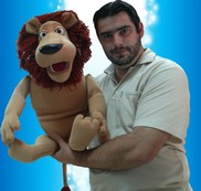 Felix Luis Campos Granados (Spain) with LION puppet.