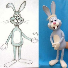 Mikky the Rabbit puppet (example of puppet from sketch).