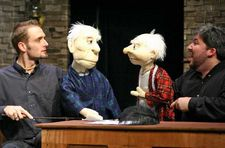 ED and MARLEY puppets in performance of www.theatreworks.us (USA).