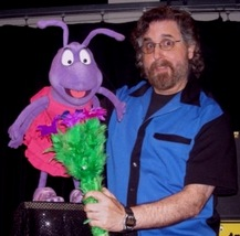 Steve Petruzzella with Purple ANT puppet