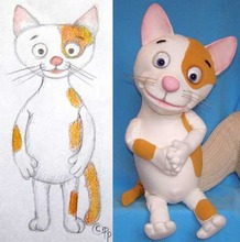Kiity Cat puppet (example of puppet from sketch).