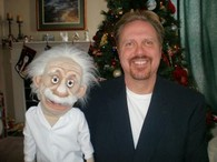 Ventriloquist Lee Cornell with EINSTEIN puppet.